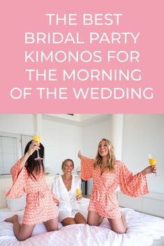 I don't know about you guys, but some of the photos I'm looking forward to the most of my wedding are all the getting ready photos with my bridesmaids the morning of my wedding! Which means we're going to need some chic bridesmaid robes, getting […] Wedding Favours Luxury, Diy Wedding Gifts, Wedding Gifts For Bridesmaids, Bridesmaid Robes, Elope Wedding, Wedding Day, Bridesmaid Ideas, Hawaii Wedding, Wedding Dresses