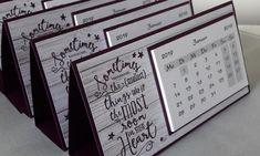 2019 - Desk Calendar, Presents, Giveaway, Goodie Stampin up Stampin Up Anleitung, Stampin Up Karten, Diy Calendar, Desk Calendars, Making Gift Boxes, Stampin Up Weihnachten, Friend Scrapbook, Birthday Calendar, Scrapbook Journal