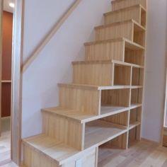 市川市Kさんの家新築工事の部屋 箱階段