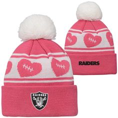 Oakland Raiders TODDLER Baby Pink Cuff Knit Hat 012542c61