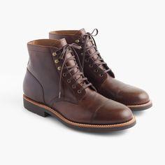 Kenton leather cap-toe boots : boots | J.Crew