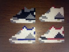 Air Jordans perler beads by PerlerCrafts
