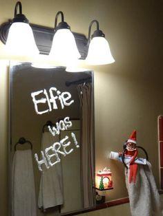 bathroom elf and 134 other easy elf on the shelf ideas