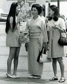 Miniskirts and Kimono 1968