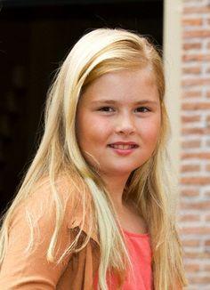Dutch Crown Princess Amalia (age 9)