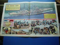 "EAGLE CUTAWAY DRAWING 12/11/1960 H.M.S. "" TIGER "" ROYAL NAVY CRUISER VGC in Books, Comics & Magazines, Comics, UK Comics & Annuals | eBay"