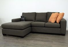 Modern Custom Sectional Sofa Design Idea With Dark Gray Tweed Wool ...
