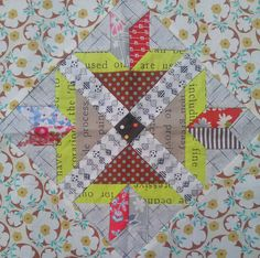 Cabbage Quilts: Green Tea & Sweet Beans block