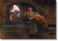 Carrying the Sheaves by Camille-Félix Bellanger