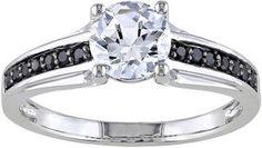 FINE JEWELRY 1/6 CT. T.W. Color-Enhanced Black Diamond Engagement Ring #bride #wedding #jewelry #bridaljewelryideas