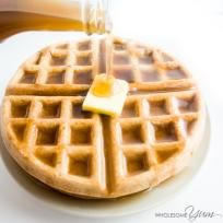4-Ingredient Flourless Almond Butter Waffles (Paleo, Low Carb)