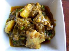 Goat curry recipe from Jehan Can Cook. Goat Recipes, Indian Food Recipes, Beef Recipes, Cooking Recipes, Cooking Tips, Jamaican Dishes, Jamaican Recipes, Curry Recipes, Haitian Recipes