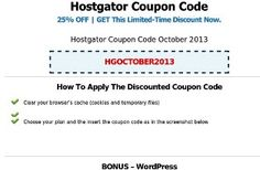http://hostgatorcouponcodediscount.com | Hostgator Coupon Code Discount | 25% Off - Get 25% discount codes for Web Hosting, VPS Hosting and Dedicated Servers to build your own Website/Blog. Coupon Codes will be updated every month.