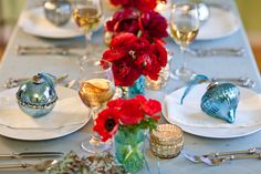 red & turquoise for my dining room colour theme this holiday season?