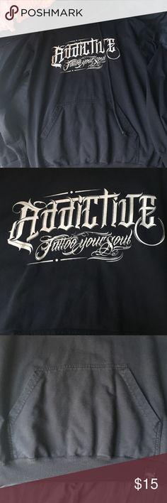 Addictive Tattoo hoodie Addictive tattoo MX black hoodie with front pocket. Black with brand logo. Addictive Jackets & Coats
