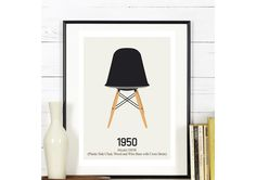 Affiche - Design moderne chaise inspiration scandinave : Affiches, illustrations, posters par rgb
