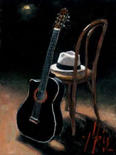 Buy a U. limited edition giclée of Guitar 1 - Still Life painting by Fabian Perez. Contact us to ask about this painting's price, sizes, SN and AP. Fabian Perez, Tango, Guitar Painting, Guitar Art, Opera Do Malandro, Jazz Art, Oeuvre D'art, Art Music, Still Life