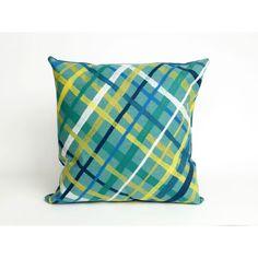 Liora Manne Plaid 20-inch Throw Pillow