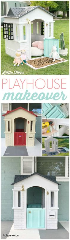 Memory Foam Mattress - Need To I Receive A Tender Or Firm Mattress? Cutest Playhouse Makeover And So Easy Turn This Yard Eyesore Into A Little Modern Farmhouse In Just A Few Steps Little Tikes Playhouse, Plastic Playhouse, Diy Playhouse, Backyard Playground, Backyard For Kids, Outdoor Projects, Diy Projects, Bedroom Door Signs, Kids Play Area