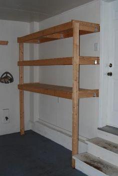 Garage storage shelves