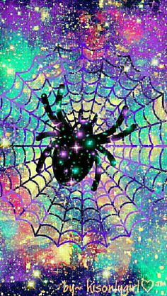 Spider web galaxy wallpaper I created for the app CocoPPa