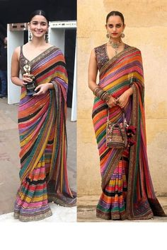 Colorful Soft Silk Saree with lining laheriya Designer Sari Border Indian Wedding Bridal Gift Party Wedding Sari Partywear Bridesmaid Saree Bollywood Sarees Online, Bollywood Lehenga, Bridal Lehenga Choli, Bollywood Fashion, Sabyasachi, Party Wear Dresses, Party Wear Sarees, Salwar Kameez, Wedding Sari