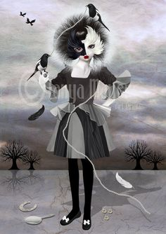 Magpie lady....Halloween costume 2012? Keep the bird theme going.... @Beth MacMillan