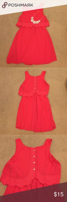 Formal Pink Dress This dress is excellent for Easter, weddings, and any formal event. The fabric is very light and thin, but a built-in slip provides for maximum coverage. Scalloped detailing. Purchased from Belk. Red Camel Dresses Mini
