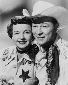 Roy Rogers & Dale Evans All Smiles! 8x10 Reprint Of Old Photo