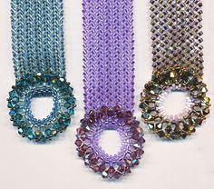 Center Stage Bracelet using easy Herringbone including clasp.   ~ Seed Bead Tutorials