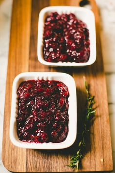 Spiced Cranberry Sauce...A bit more involved, you may have to source spices but can be made a day or two ahead. Replace the honey with pure maple syrup!