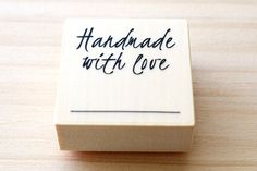 Rubber stamp  Handmade with love  stamp by karaku on Etsy, ¥650