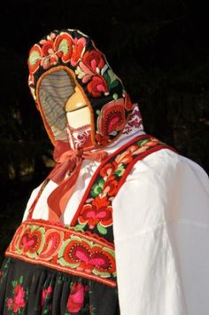 FolkCostume&Embroidery: Bunad and Rosemaling embroidery of Hallingdal, Buskerud, Norway Norwegian Clothing, Figure It Out, Character Outfits, Cute Designs, Norway, Scandinavian, Embroidery, Birth, Country