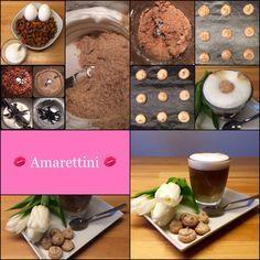 Ein süßer Kuss:  Amarettini  … perfekt auf Cappuccino-Milchschaum  | Das Leben ist zu kurz, um schlechten Wein zu trinken!