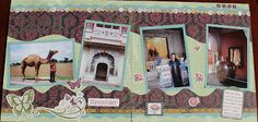 Jaipur, India: Close to My Heart Wings Double Page Scrapbook Layout