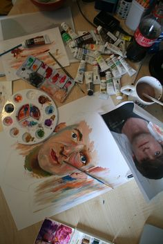 Gouache, acrylic, watercolour.