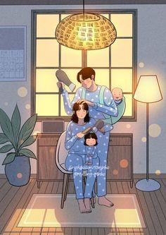 Grafolio Cute Couple Drawings, Cute Couple Art, Cute Kawaii Drawings, Anime Love Couple, Cute Couples, Cute Wallpaper Backgrounds, Cartoon Wallpaper, Cute Wallpapers, Cartoon Art Styles