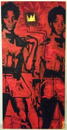 783629f4826abc Jean Michel Basquiat Painting by Matt Pecson, Wall Decor, Home Decor,  Canvas Wall
