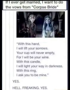 i love corpse bride it wa same and my dads favorite movie when i was four
