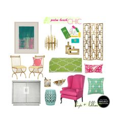 Palm Beach chic. bright interior colors. modern-beach- regency