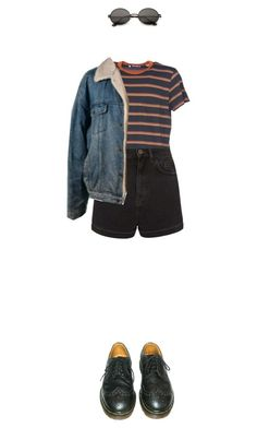 """alyssa"" by julietteisinthe80s ❤ liked on Polyvore featuring Levi's, Topshop and Dr. Martens"