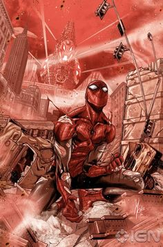 Superior Spider-Man 6 Cover: Spider-Man Marvel Comics Poster - 30 x 46 cm Comic Book Characters, Marvel Characters, Comic Character, Comic Books Art, All Spiderman, Batman, Amazing Spiderman, Spiderman Hoodie, Superman