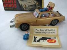 WOW Matchbox car, who would have thought.  James bond in a 007 gold finger car that ejects the driver, so cool.  What a valuable thing to collect