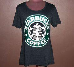 Ladies T Shirt Starbuck Coffee Short Sleeve Shirt  by ClothesTee  women   shortsleeve   df831ba0715