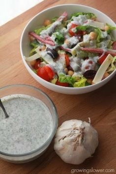 Try this easy Immune Boosting Salad Dressing Recipe. I just love finding new immune boosting foods, and this homemade salad dressing recipe is one of my favorites. It's a healthy twist on ranch dressing, including healthy yogurt with probiotics.