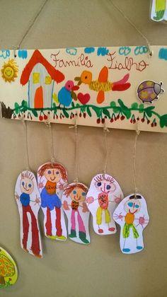 """Presentes para a Família: """"A Família, meu tesouro"""" presentes deste ano para assinalar o dia da família . Kids Crafts, Family Crafts, Projects For Kids, Diy For Kids, Family Theme, Drawing Activities, Toddler Art, Elementary Art, Preschool Activities"""