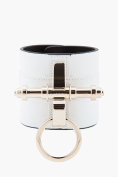 Not a big name brand girl but ***swoon**, givenchy white obsedia cuff bracelet