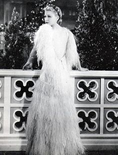 """Ginger Rogers, """"Top Hat"""", 1935. The ostrich feather dress."""