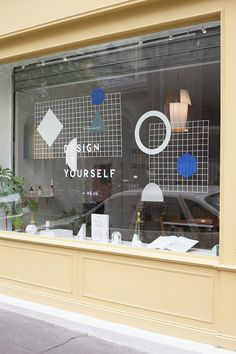 Design It Yourself Party launch at Klin d'oeil - Heju Signage Design, Facade Design, Window Stickers, Window Decals, Display Design, Store Design, Vitrine Design, Boutique Deco, Window Graphics
