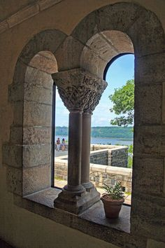 The Cloisters - view of the Hudson River